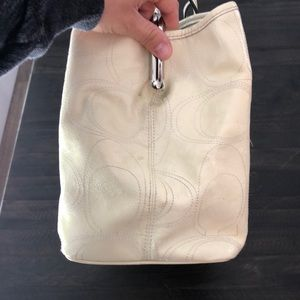 Coach Bags - Coach Tote in Pale Yellow.